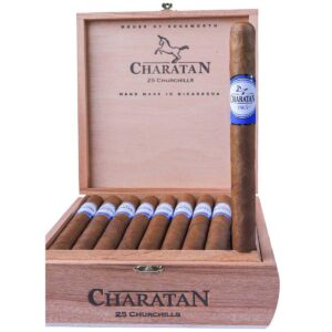 Charatan Churchill cigar box of 25